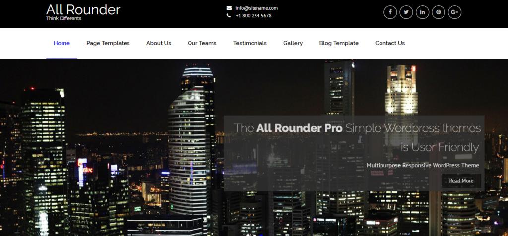 allrounder multipurpose wordpress theme