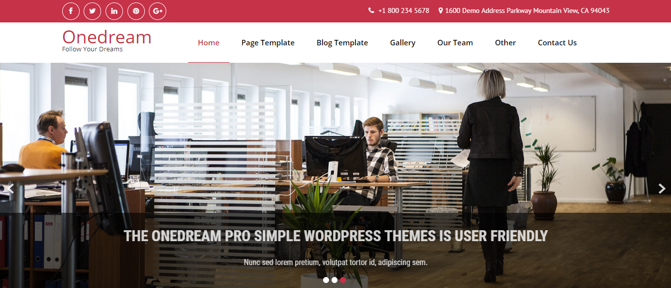 OneDream corporate WordPress theme